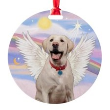 Yellow Labrador Angel Ornament