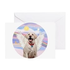 Yellow Labrador Angel Greeting Card