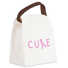Cure Breast Cancer Canvas Lunch Bag