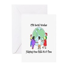 CPS Social Worker Greeting Cards