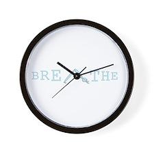 Yoga Breathe 5 Wall Clock