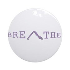 Yoga Breathe 6 Ornament (Round)