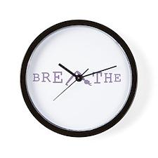 Yoga Breathe 6 Wall Clock