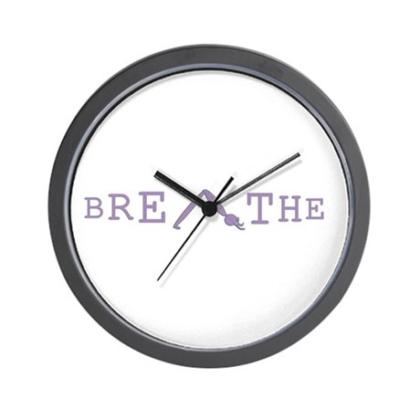 Yoga Breathe 6 Wall Clock