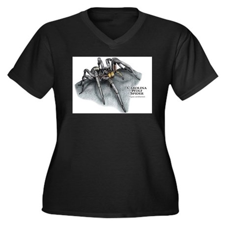 Carolina Wolf Spider Women's Plus Size V-Neck Dark