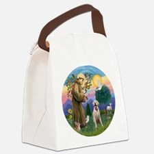 StFrancis-YellowLab (Bz) Canvas Lunch Bag
