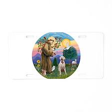 StFrancis-YellowLab (Bz) Aluminum License Plate