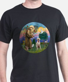 StFrancis-YellowLab (Bz) T-Shirt