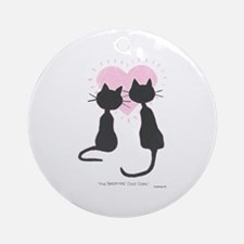 Beatniks' Cats Ornament (Round)