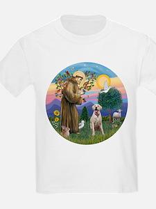StFrancis-YellowLab (Bz) T-Shirt