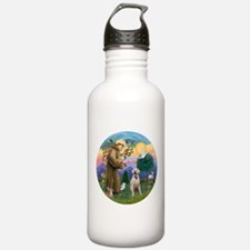 StFrancis-YellowLab (Bz) Water Bottle