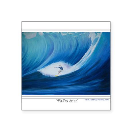 "Big Surf Spray Square Sticker 3"" x 3"""