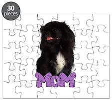 Black Pekingese Mom Puzzle