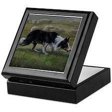 Border Collie Wiston Cap Keepsake Box