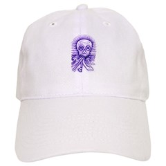 Purple Singing Skull Baseball Cap