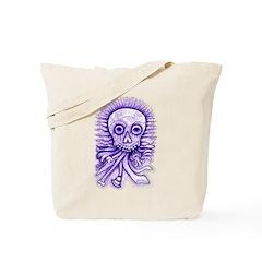 Purple Singing Skull Tote Bag