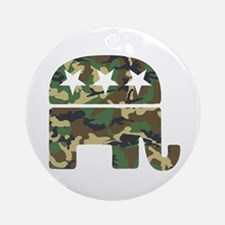 Republican Camo Elephant.png Ornament (Round)