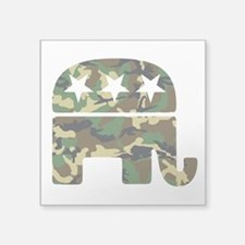 "Republican Camo Elephant.png Square Sticker 3"" x 3"