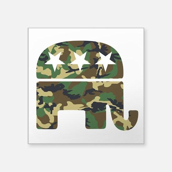 """Republican Camo Elephant.png Square Sticker 3"""" x 3"""