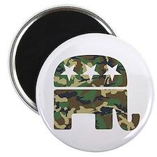 Republican Camo Elephant.png Magnet