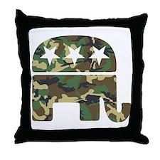 Republican Camo Elephant.png Throw Pillow