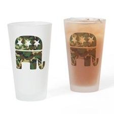 Republican Camo Elephant.png Drinking Glass