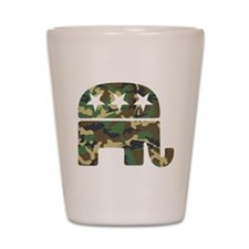 Republican Camo Elephant.png Shot Glass