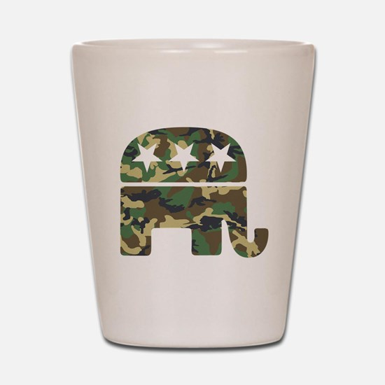 Republican Camo Elephant.png Shot Glass