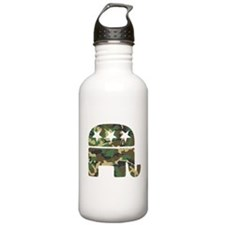 Republican Camo Elephant.png Water Bottle