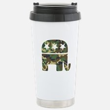 Republican Camo Elephant.png Stainless Steel Trave
