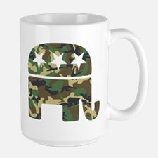 Republican Camo Elephant.png Large Mug