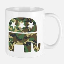 Republican Camo Elephant.png Small Small Mug