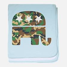 Republican Camo Elephant.png baby blanket