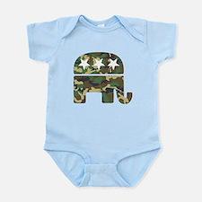 Republican Camo Elephant.png Infant Bodysuit