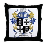 Schives Coat of Arms Throw Pillow