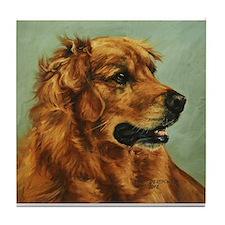 Golden Retriever Dog Tile Coaster