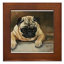 Pug Dog Framed Tile