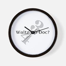 Waltz Up Doc Musician Dancer Wall Clock