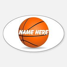Customizable Basketball Ball Bumper Stickers