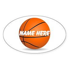 Customizable Basketball Ball Decal