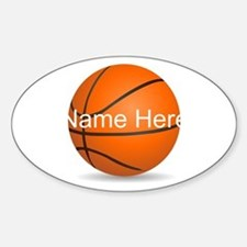 Customizable Basketball Ball Decal