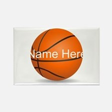 Customizable Basketball Ball Rectangle Magnet