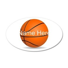 Customizable Basketball Ball Wall Decal
