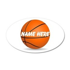 Customizable Basketball Ball Wall Decal Sticker