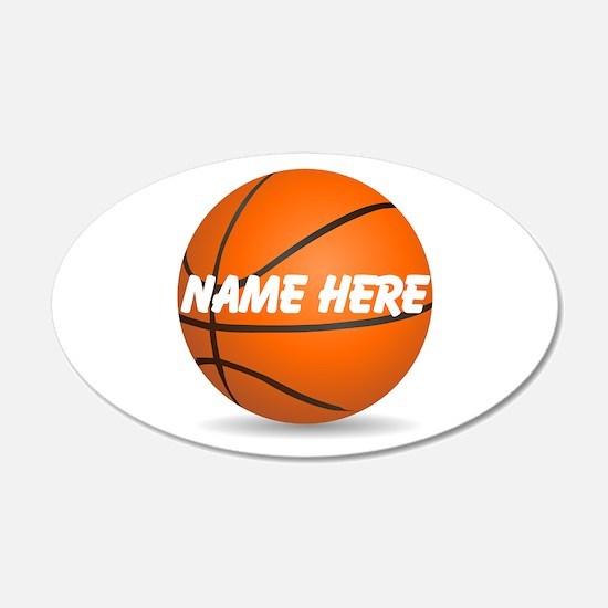 Customizable Basketball Ball Wall Sticker