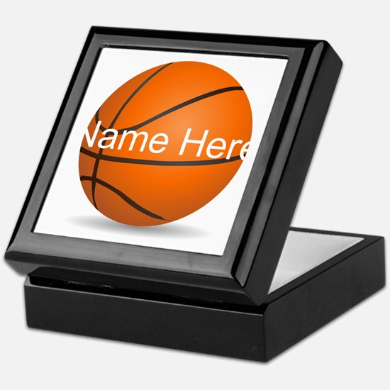Customizable Basketball Ball Keepsake Box