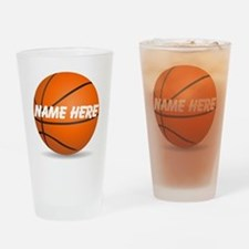 Customizable Basketball Ball Drinking Glass