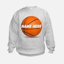 Customizable Basketball Ball Sweatshirt