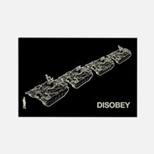 Tank Man Disobey Rectangle Magnet