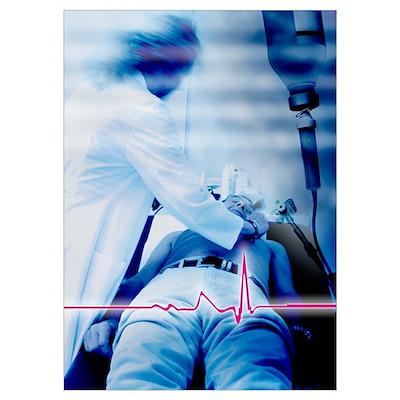Emergency defibrillation Poster